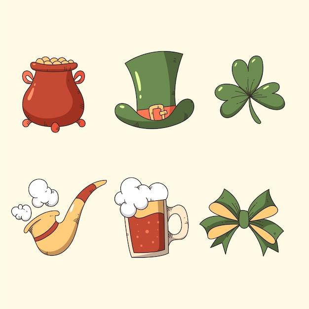 Free Vector Vintage St Patrick S Day Elements Set