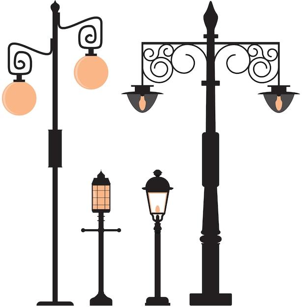 vintage street lamp vector premium download