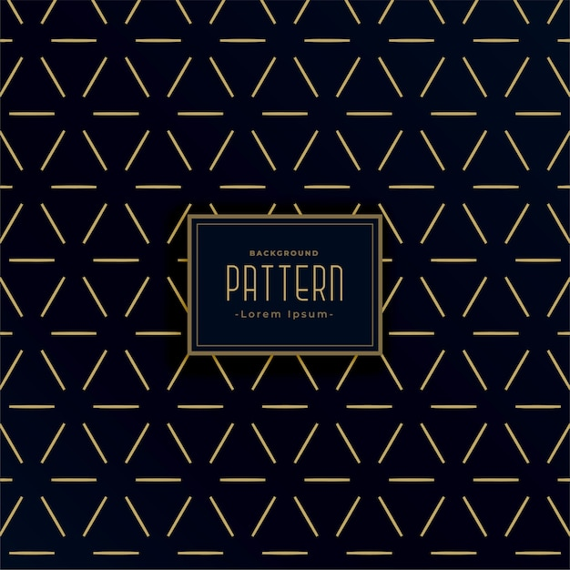 Vintage style black and gold geometric line patterns Free Vector