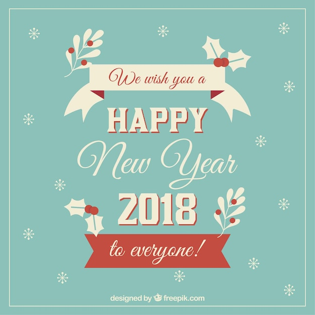 vintage style blue new year background