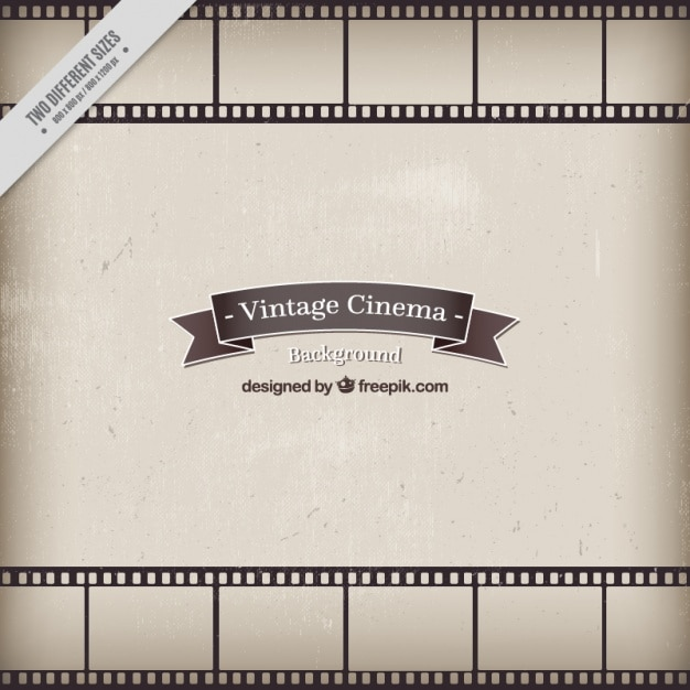 Vintage style cinema background Free Vector