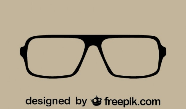 Vintage style eye-glasses Free Vector