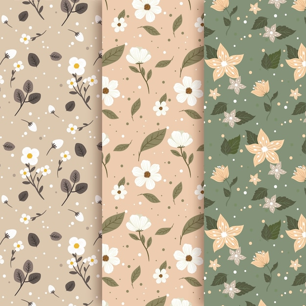 Vintage style for spring pattern Free Vector
