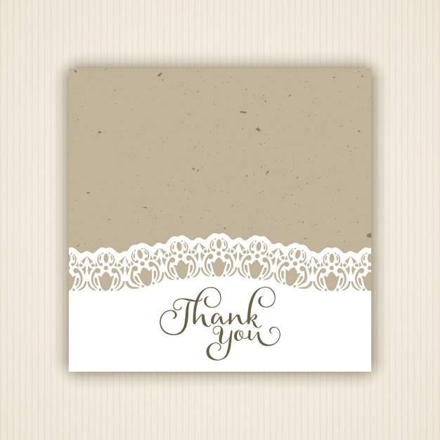 Vintage style thank you card Vector | Free Download