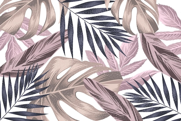 Vintage style tropical background Free Vector