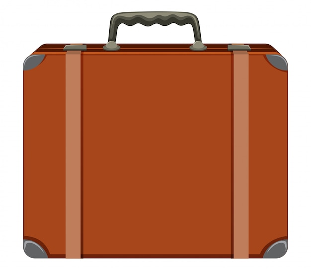A vintage suitcase on white background Free Vector