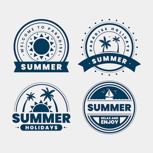 Progettazione di etichette vintage estive Vettore gratuito