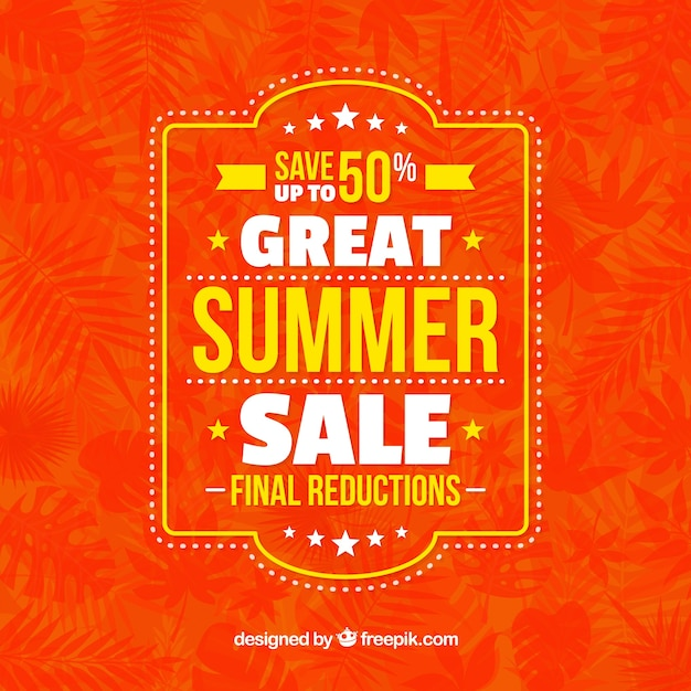 Vintage summer offers background Free Vector