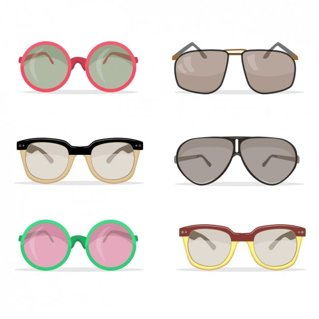 Cool Vintage Sunglasses  vintage sunglasses collection vector free download