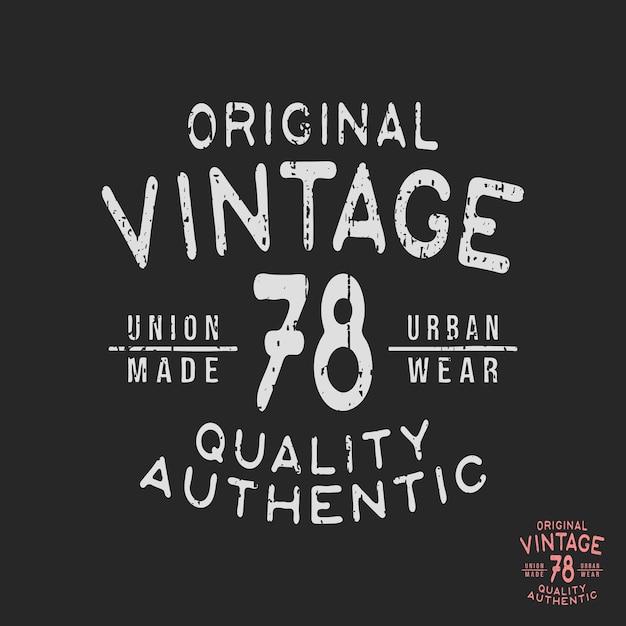 Vintage t-shirt stamp Premium Vector