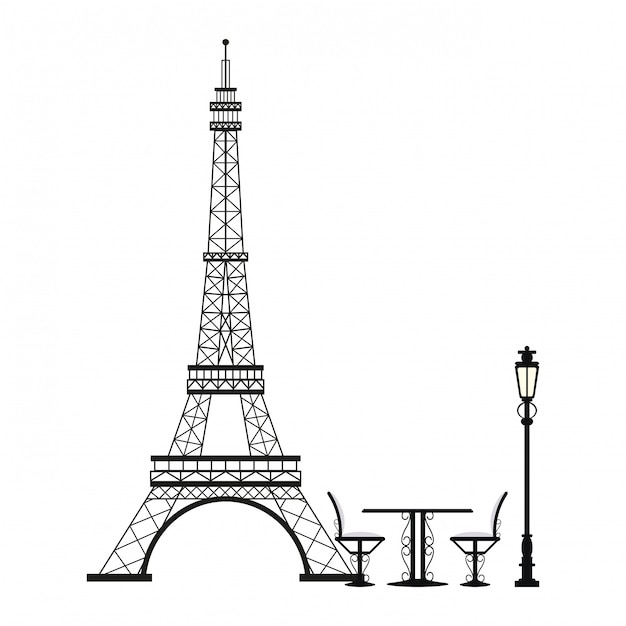 premium vector vintage table and chair on eiffel tower https www freepik com profile preagreement getstarted 3555131