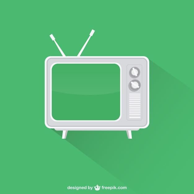 Vintage television Free Vector