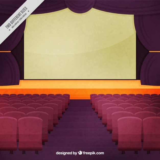 Vintage Theatre Stage Background Vector Free Download