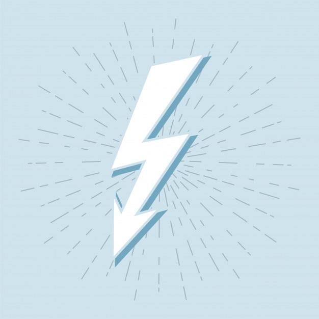Vintage Thunder Symbol With Sunburst In Grunge Background Vector