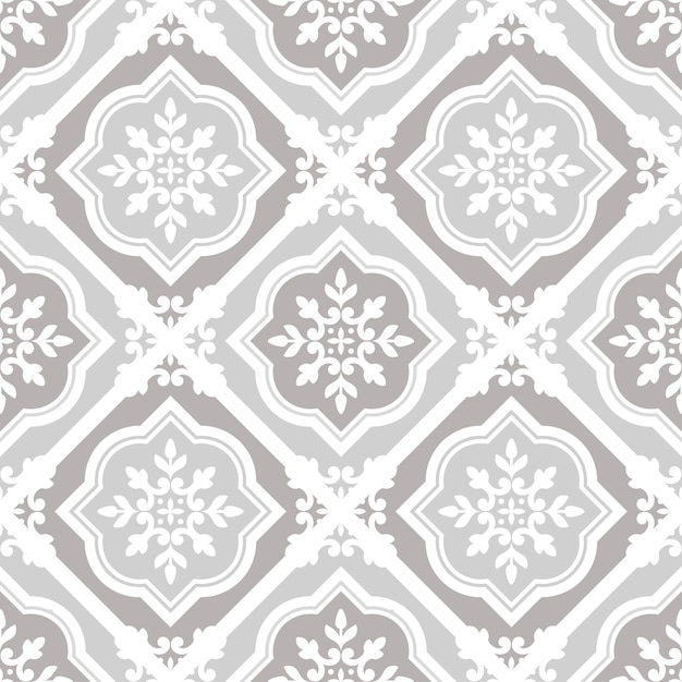 Vintage tile pattern seamless vector Premium Vector
