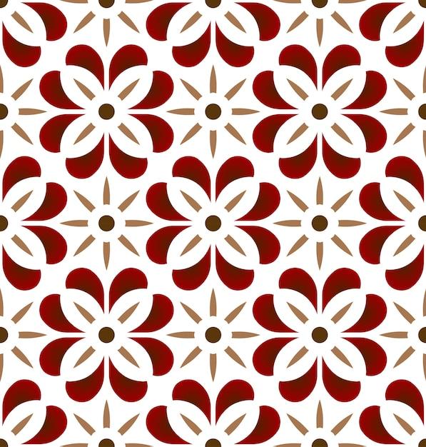 Vintage tile pattern Premium Vector