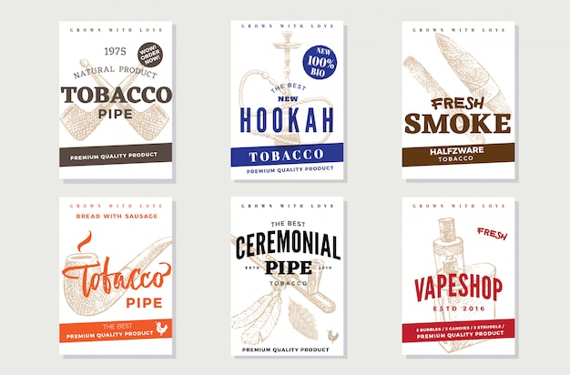 Vintage tobacco advertising posters Free Vector