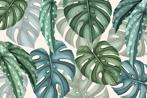Vintage tropical background Free Vector