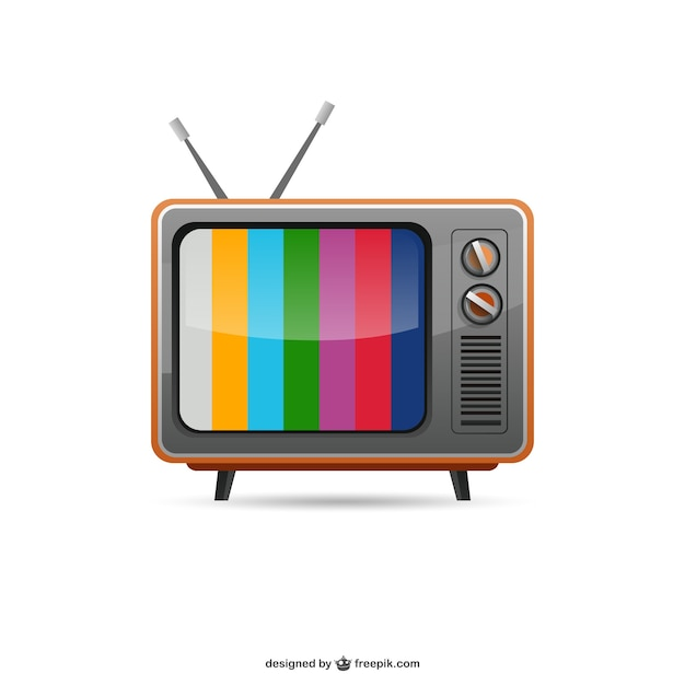 What Time Is It On What Tv: Vintage Tv Vector