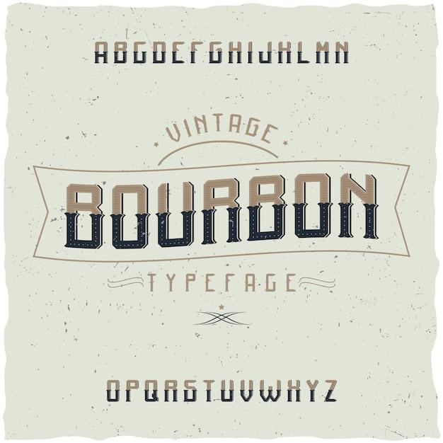 Винтажный шрифт bourbon. Бесплатные векторы