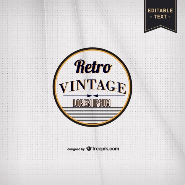 Vintage typography paper template Free Vector