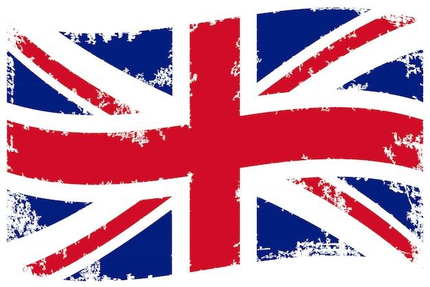 ヴィンテージイギリスフラグ Premiumベクター