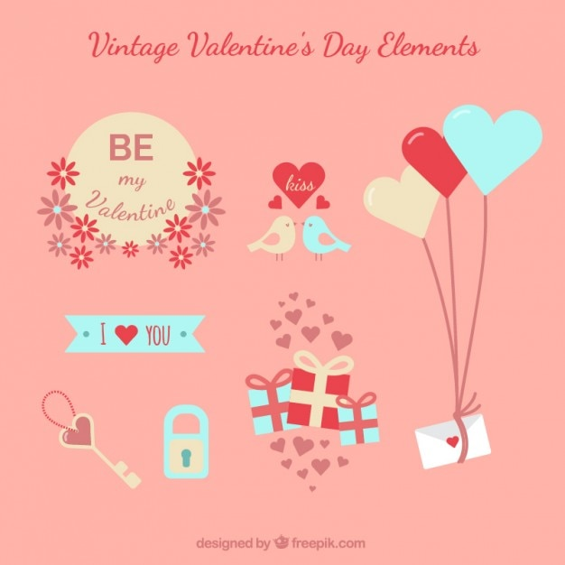 Vintage Valentine Day Elements Stock Images Page Everypixel