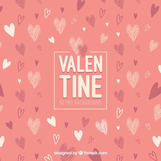 Vintage Valentine S Day Background Vector Free Download
