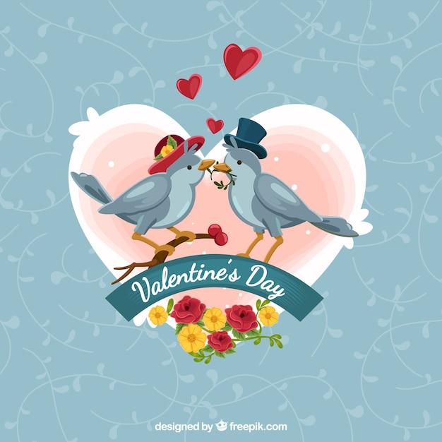 vintage valentines day background free vector - Vintage Valentines Day