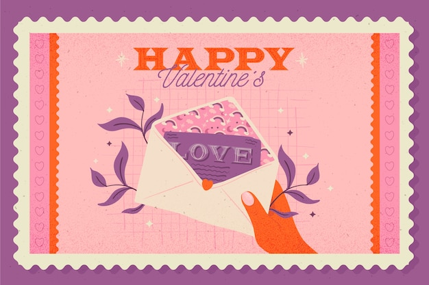 Vintage valentine's day background Free Vector