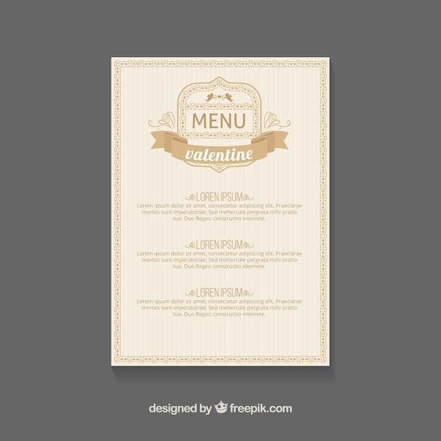s day menu template