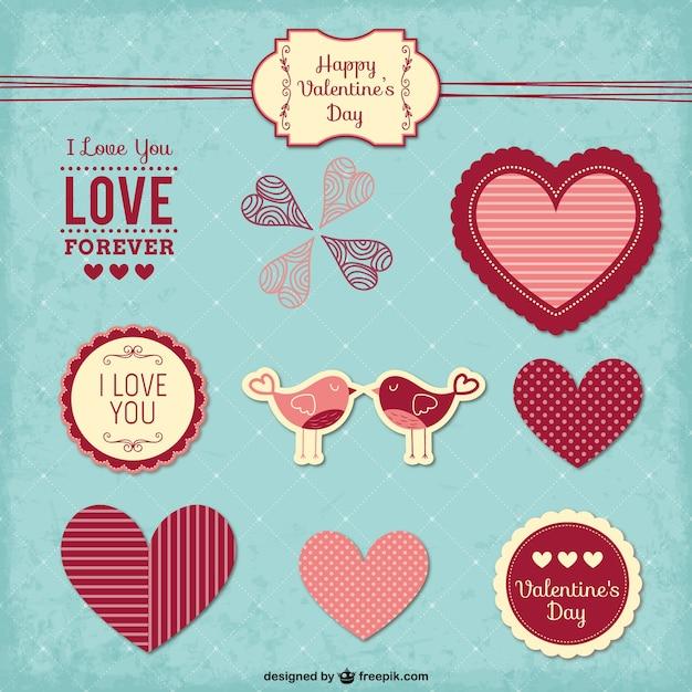 Vintage Valentine\'s stickers