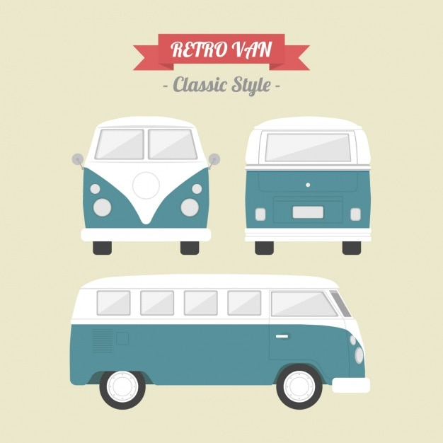 Vintage Van Design Vector Free Download