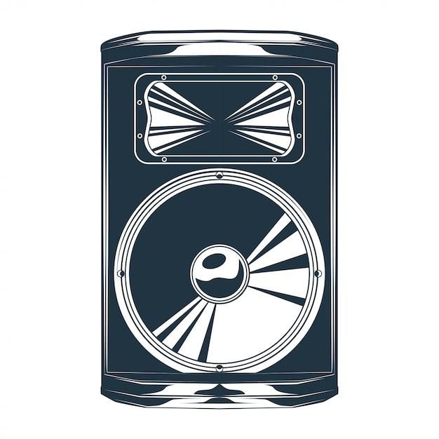 Vintage vector illustration of speaker Premium Vector