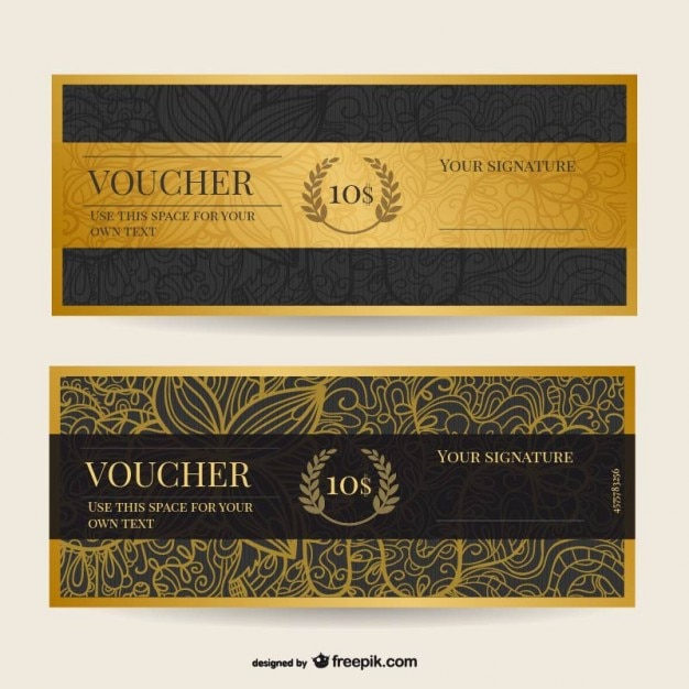 Vintage voucher template Vector – Voucher Template Free