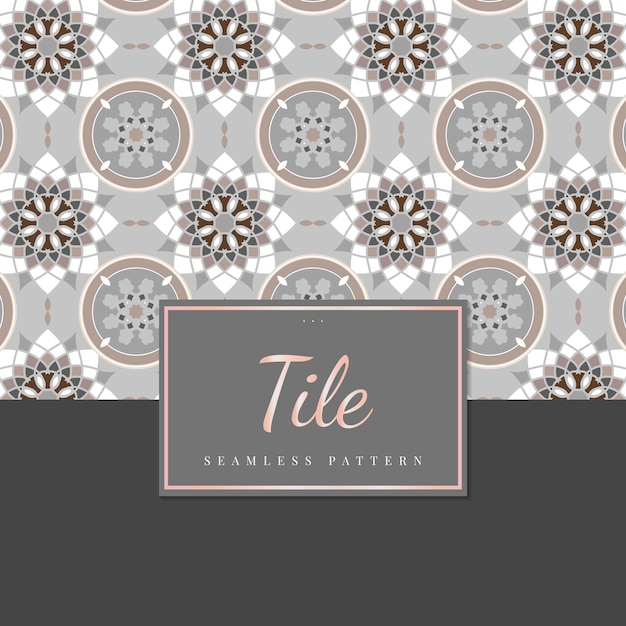 Vintage wall tiles Free Vector