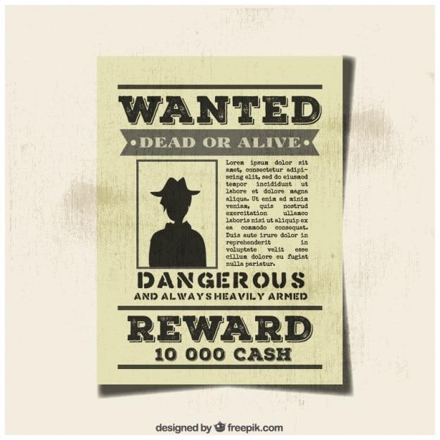 Vintage Wanted Criminal Poster  Criminal Wanted Poster