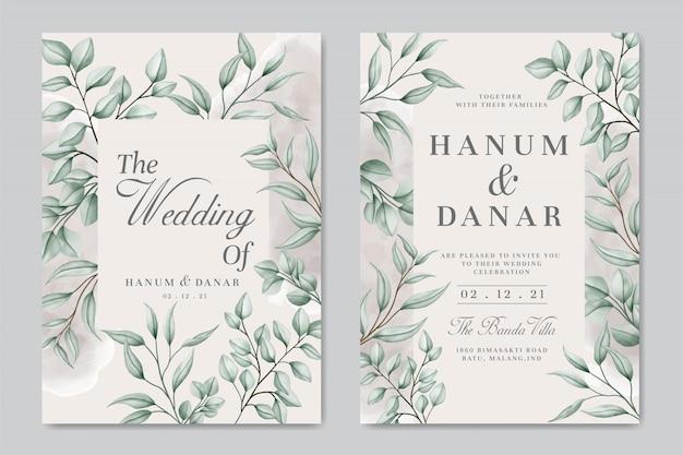 vintage wedding invitation card with floral frame background premium vector freepik