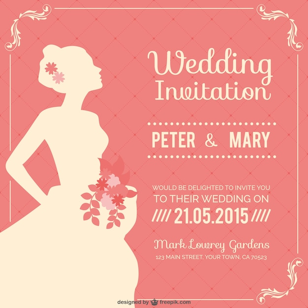 Vintage wedding invitation vector free download vintage wedding invitation free vector stopboris Gallery