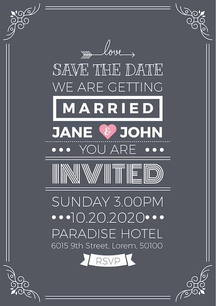 Vintage wedding invitation vector premium download vintage wedding invitation premium vector stopboris Gallery