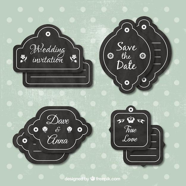 Vintage wedding labels collection