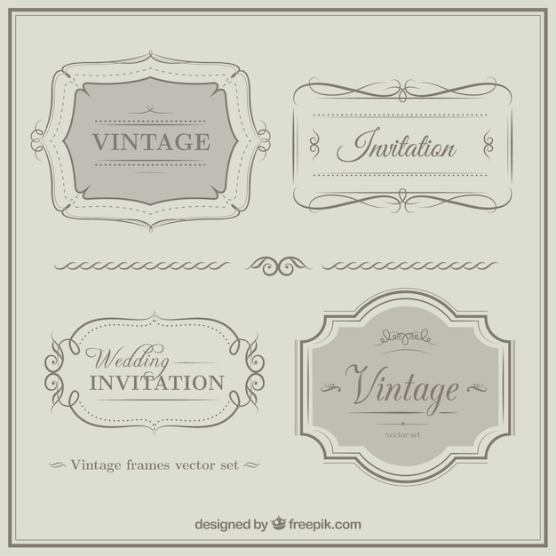 Vintage weeding invitation ornaments vector free download vintage weeding invitation ornaments free vector stopboris Choice Image
