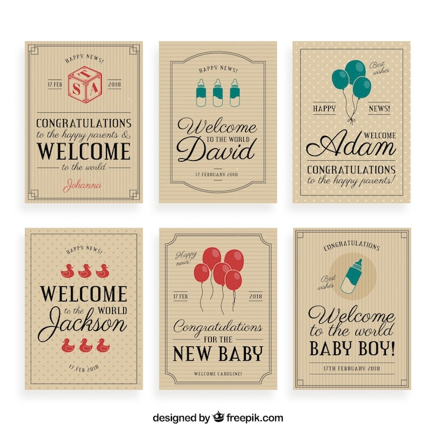 Vintage welcome baby greeting card\ collection