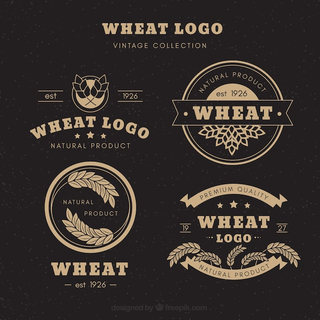 Vintage Wheat Logo Collection