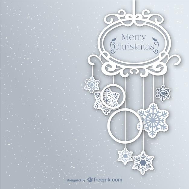 Vintage White Christmas ornament