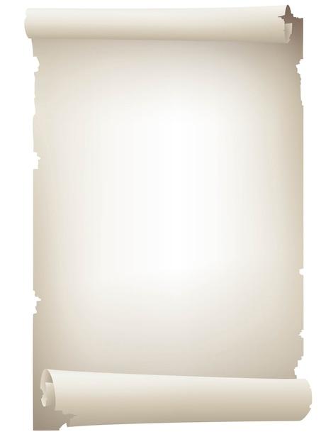 Урожай белой прокрутки бумаги баннер Premium векторы