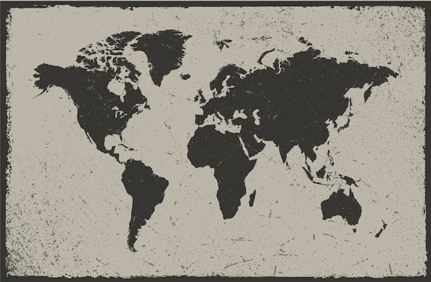 Vintage world map design vector premium download vintage world map design premium vector gumiabroncs Choice Image