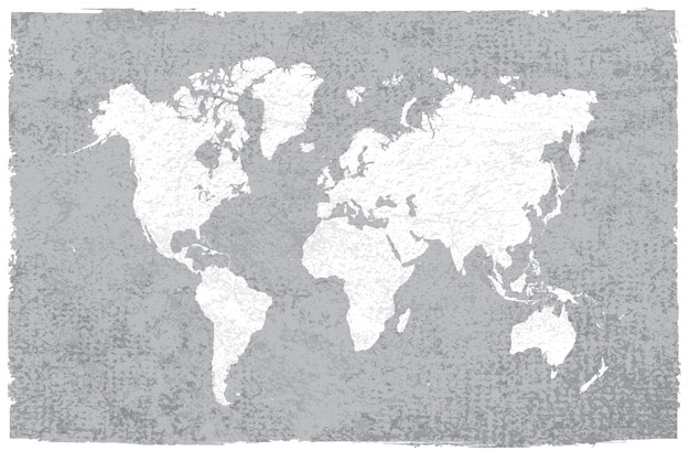 Vintage world map Premium Vector