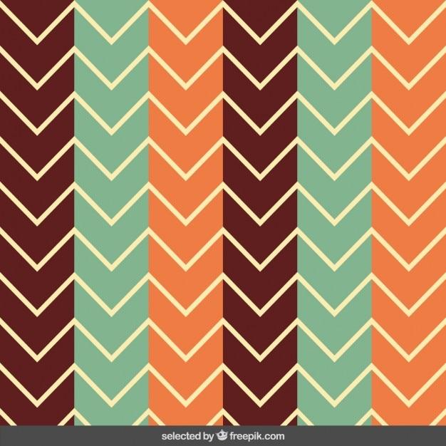 Vintage zig zag pattern Vector | Free Download