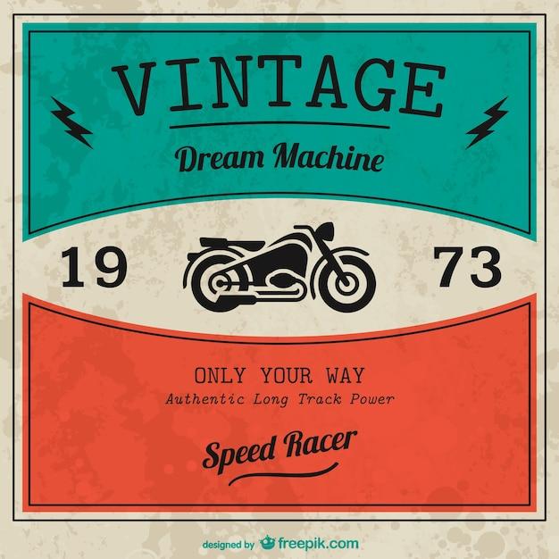 Vintage вектор мотоцикл Бесплатные векторы